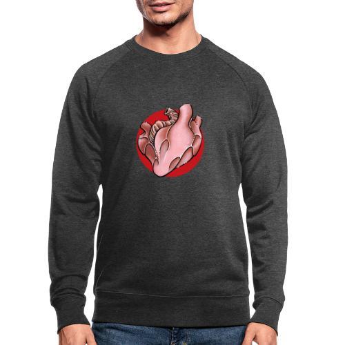 Herz Heart - Männer Bio-Sweatshirt
