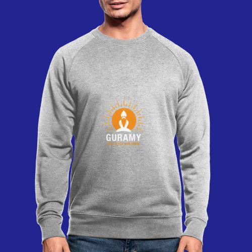 final white con scritta CORRETTO - Men's Organic Sweatshirt