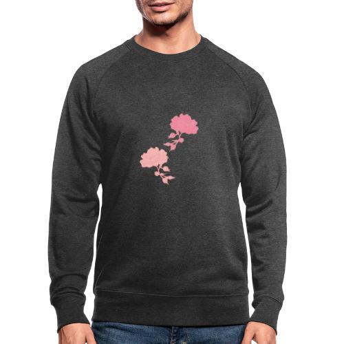 romance isn't dead Rosen - Männer Bio-Sweatshirt
