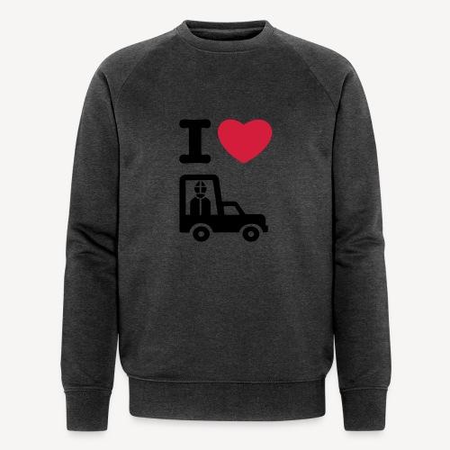 Papst im Auto - Men's Organic Sweatshirt by Stanley & Stella