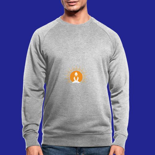 Guramylyfe logo white no text - Men's Organic Sweatshirt