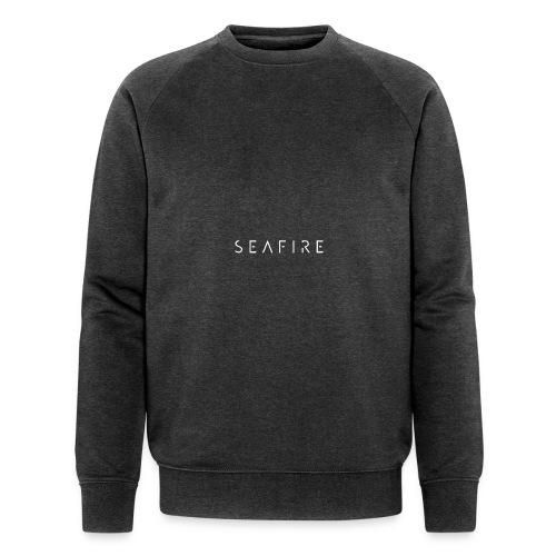 Seafire logo WHITE - Mannen bio sweatshirt
