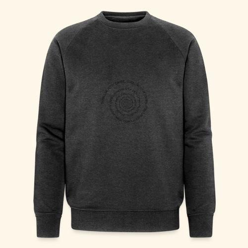 SPIRAL TEXT LOGO BLACK IMPRINT - Men's Organic Sweatshirt by Stanley & Stella