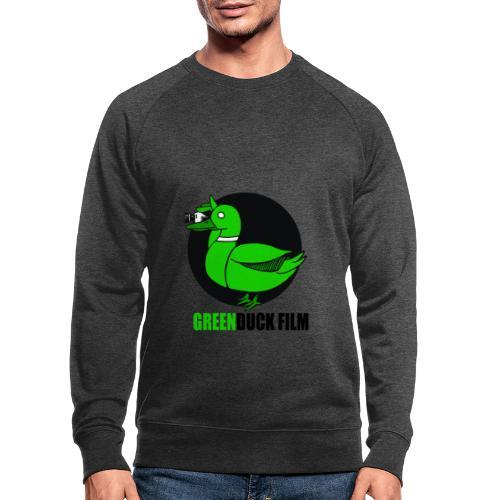 Greenduck Film Logo w. black letters - Økologisk sweatshirt til herrer