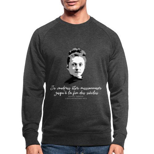 Sainte Therese patronne des missions - Sweat-shirt bio