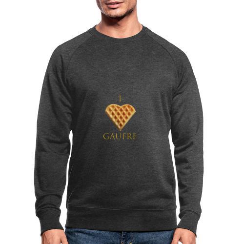i love gaufre - Sweat-shirt bio