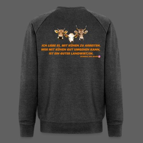 ICH LIEBE ES, MIT KÜHEN ZU ARBEITEN. - Männer Bio-Sweatshirt von Stanley & Stella