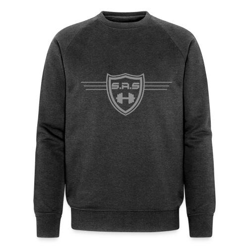 shielded1grey png - Mannen bio sweatshirt