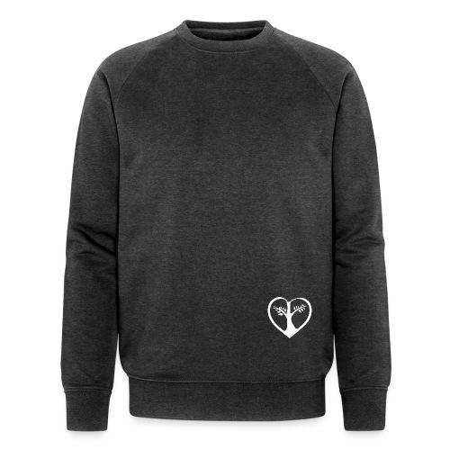 chooselove qu 1c symbol weiß png - Männer Bio-Sweatshirt von Stanley & Stella