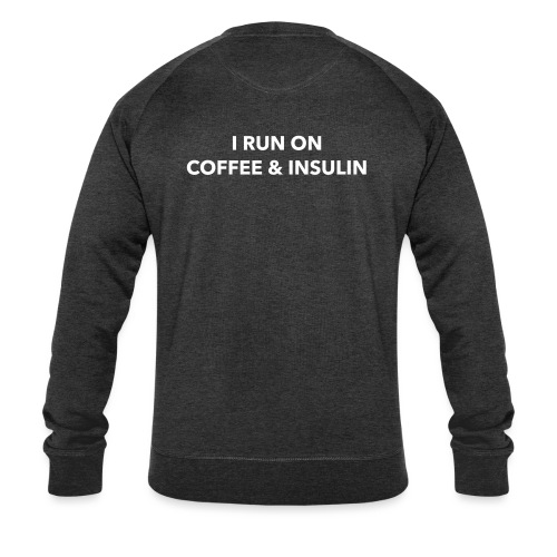 I Run on Coffee & Insulin v2 - Stanley & Stellan miesten luomucollegepaita