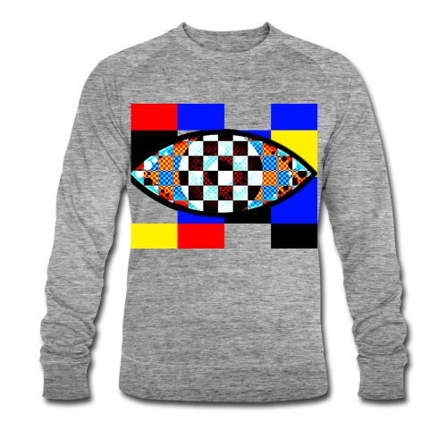 eye with squares in strong colors - Men's Organic Sweatshirt by Stanley & Stella