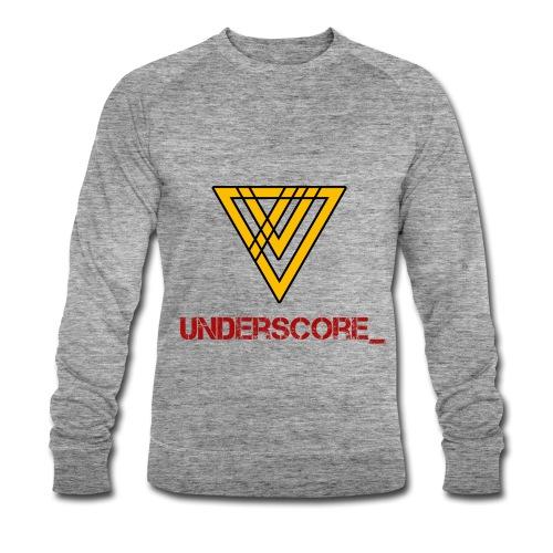Underscore Yellow Red - Men's Organic Sweatshirt by Stanley & Stella