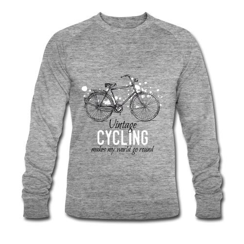 Vintage Bicycle Tuschezeichnung im Retro-Stil - Männer Bio-Sweatshirt von Stanley & Stella