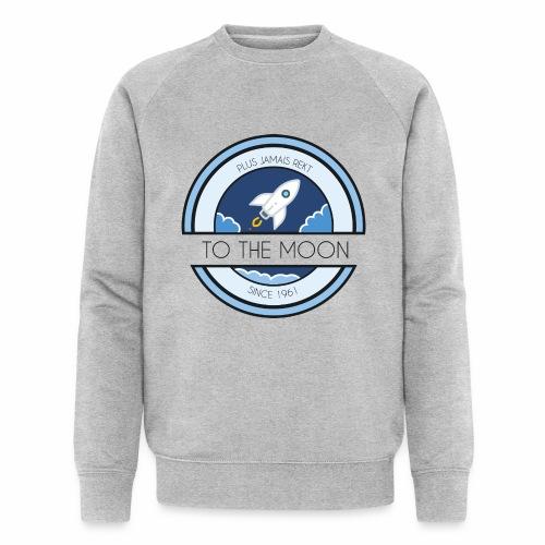 CryptoLoco - To the MOON ! - White - Sweat-shirt bio Stanley & Stella Homme