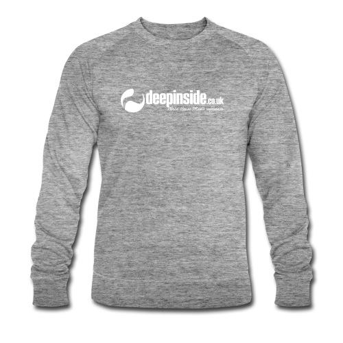 DEEPINSIDE World Reference logo white - Men's Organic Sweatshirt by Stanley & Stella