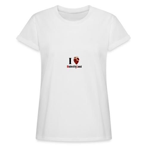I love Butterflyland - T-shirt oversize Femme