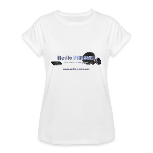 Radio PARALAX Facebook-Logo mit Webadresse - Frauen Oversize T-Shirt