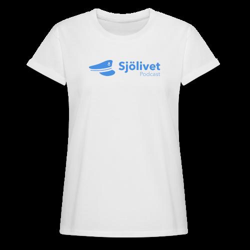 Sjölivet podcast - Svart logotyp - Oversize-T-shirt dam