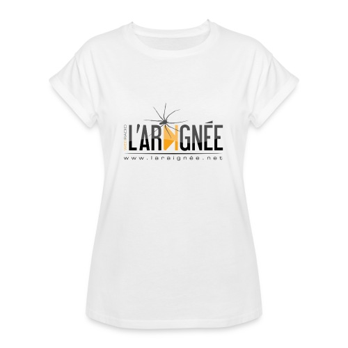 L'ARAIGNÉE, logo noir - T-shirt oversize Femme
