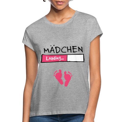 Mädchen loading // Schwangerschaft T-Shirt - Frauen Oversize T-Shirt