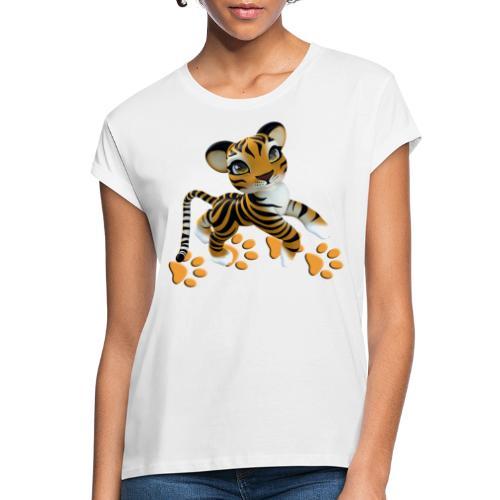 Kleiner Tiger - Frauen Oversize T-Shirt