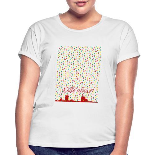 Konfettiregen, Kölle alaaf! - Frauen Oversize T-Shirt