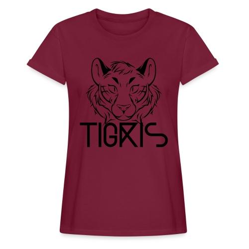 Tigris Logo Picture Text Black - Women's Oversize T-Shirt