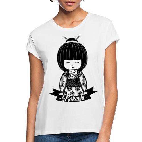Kokeshi Black - Frauen Oversize T-Shirt
