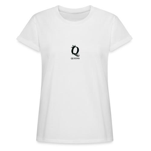 queens logo - Oversize T-skjorte for kvinner