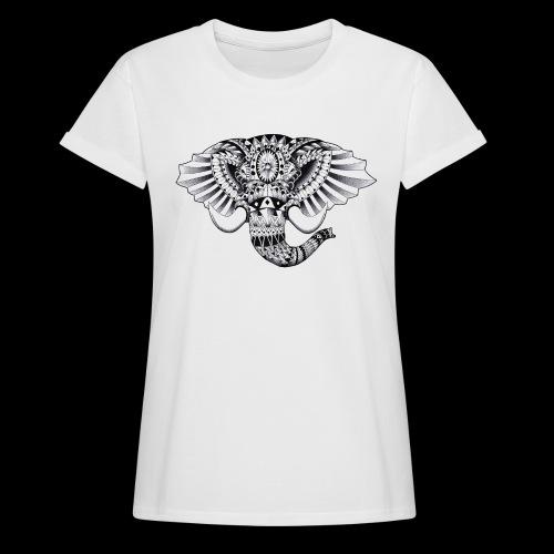 Elephant Ornate Drawing - Maglietta ampia da donna