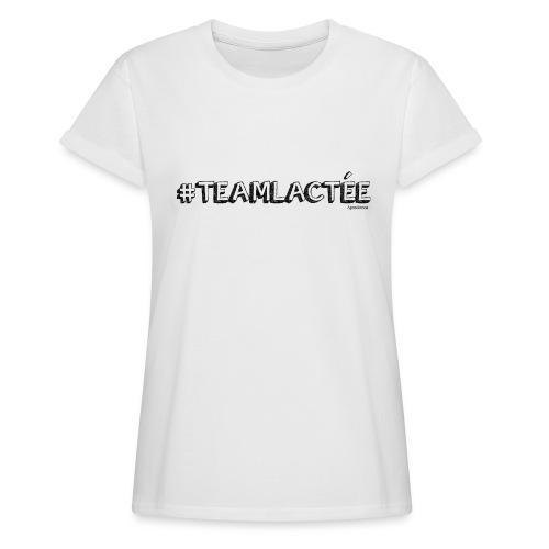 teamlacte e noir - T-shirt oversize Femme