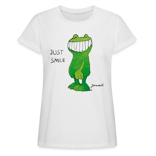 Janoschs Günter Kastenfrosch Just Smile - Frauen Oversize T-Shirt