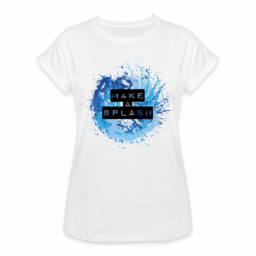 Make a Splash - Aquarell Design in Blau - Frauen Oversize T-Shirt