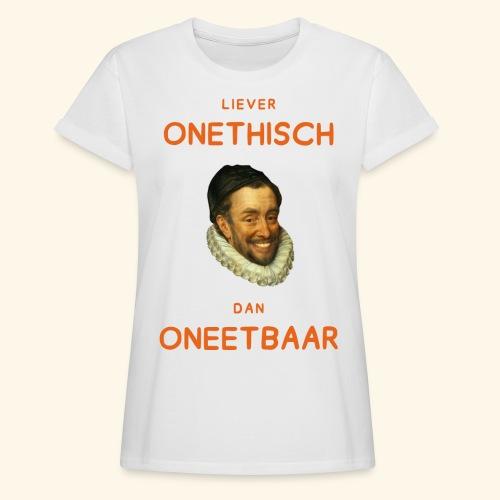 Liever onethisch dan oneetbaar - Vrouwen oversize T-shirt
