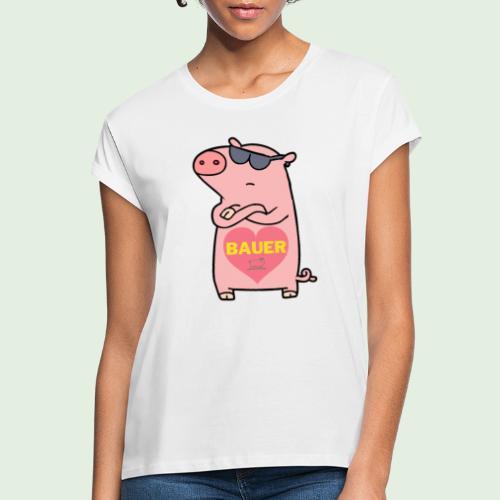 Ich liebe Bauer - Frauen Oversize T-Shirt
