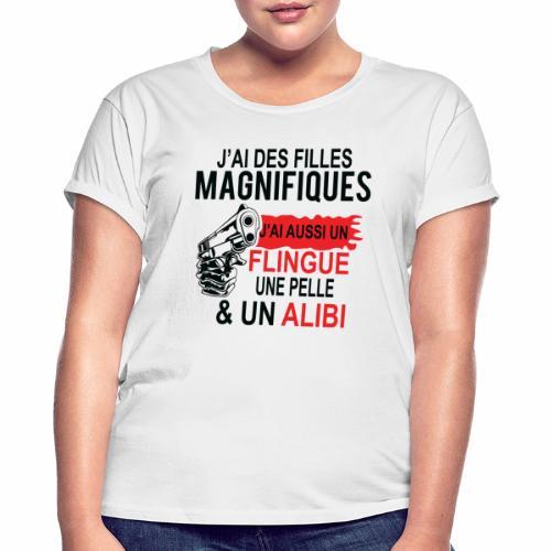J'AI DEUX FILLES MAGNIFIQUES Best t-shirts 25% - T-shirt oversize Femme