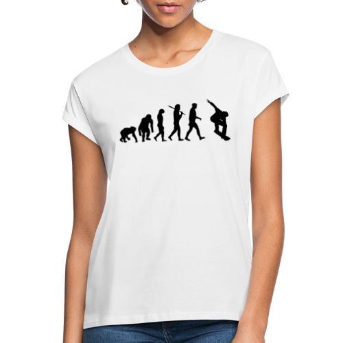 evolution_of_snowboarding - Vrouwen oversize T-shirt
