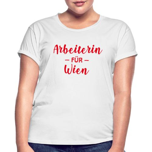 Arbeiterin für Wien - Frauen Oversize T-Shirt