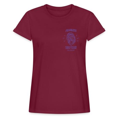 fearless violet - Frauen Oversize T-Shirt