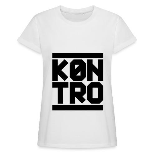 KONTRO Black Logo - Naisten oversized-t-paita