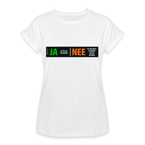 facebookvrienden - Vrouwen oversize T-shirt