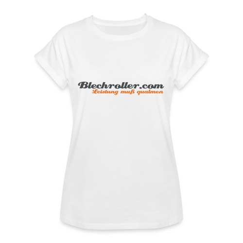 blechroller logo - Frauen Oversize T-Shirt