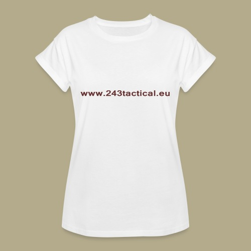 .243 Tactical Website - Vrouwen oversize T-shirt