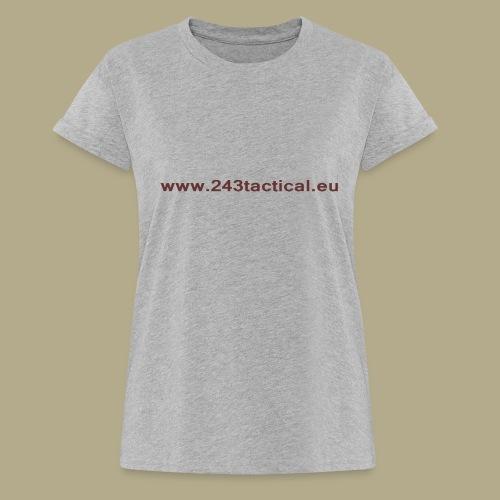 .243 Tactical Website - Vrouwen oversize T-shirt