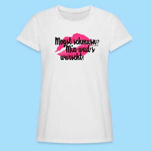 Mogst schmusn? - Frauen Oversize T-Shirt