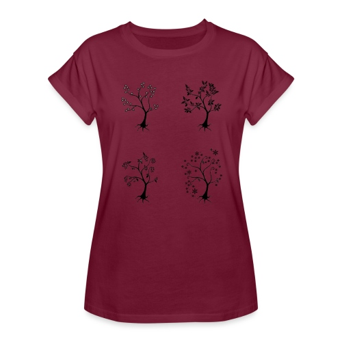 Vuodenajat - Naisten oversized-t-paita
