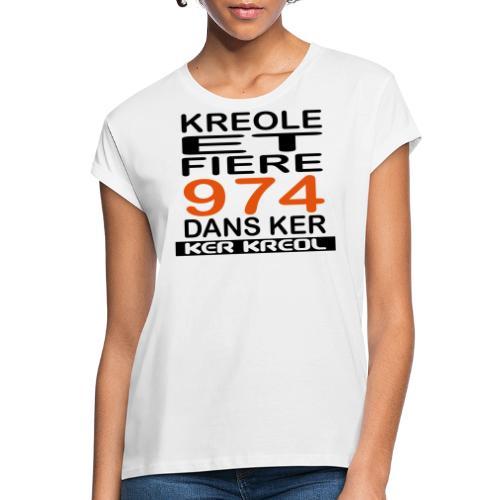 974 ker kreol - Kreole et Fiere - T-shirt oversize Femme