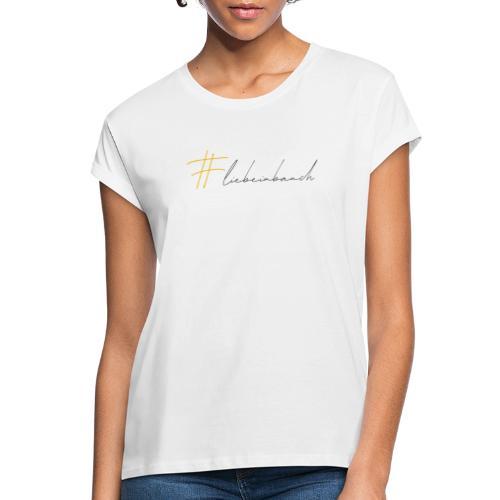 Liebe im Bauch - gelb - Frauen Oversize T-Shirt