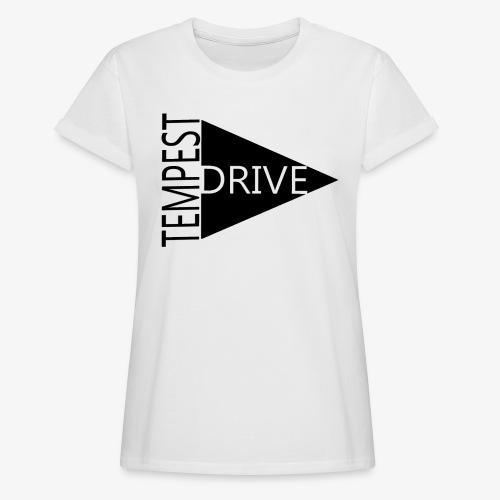 Komprimeret logo - Dame oversize T-shirt