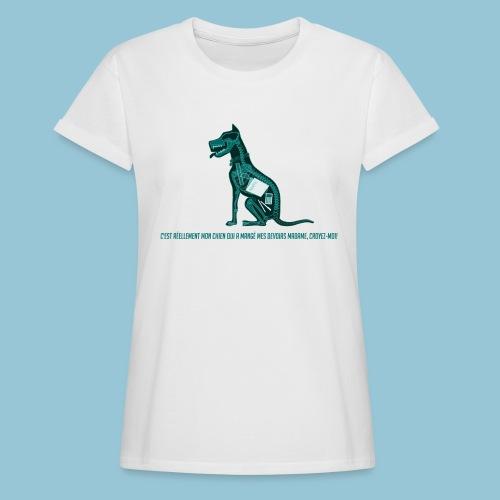T-shirt femme imprimé Chien au Rayon-X - T-shirt oversize Femme